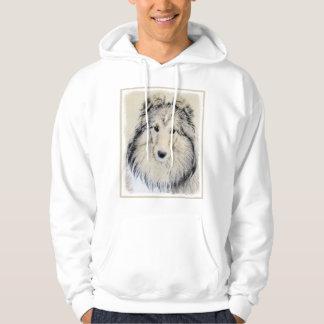 Shetland Sheepdog Painting - Cute Original Dog Art Hoodie