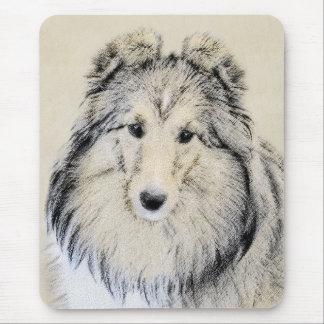 Shetland Sheepdog Painting - Cute Original Dog Art Mouse Pad