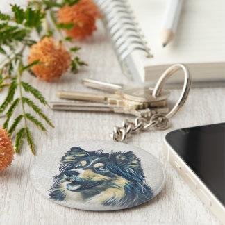 Shetland Sheepdog Painting Keychain