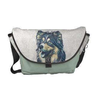 Shetland Sheepdog Painting Messenger Bag