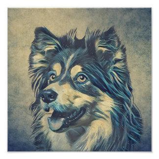 Shetland Sheepdog Painting Photo Print