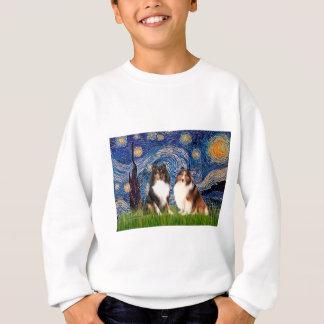 Shetland Sheepdog Pair - Starry Night Sweatshirt