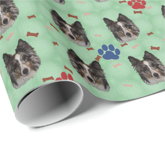 Shetland Sheepdog Portrait Wrapping Paper