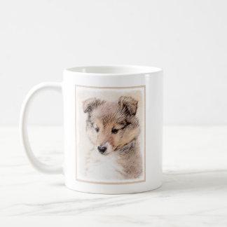 Shetland Sheepdog Puppy Painting Original Dog Art Coffee Mug