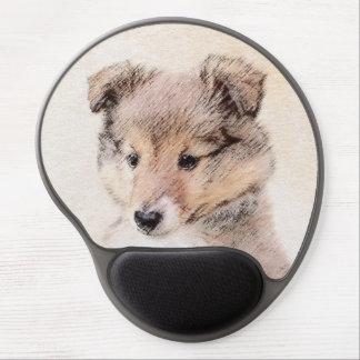 Shetland Sheepdog Puppy Painting Original Dog Art Gel Mouse Pad