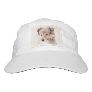 Shetland Sheepdog Puppy Painting Original Dog Art Hat