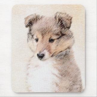 Shetland Sheepdog Puppy Painting Original Dog Art Mouse Pad