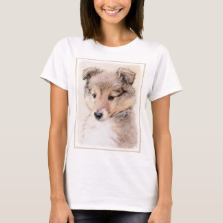 Shetland Sheepdog Puppy Painting Original Dog Art T-Shirt