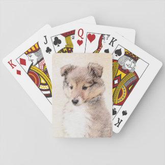 Shetland Sheepdog Puppy Playing Cards