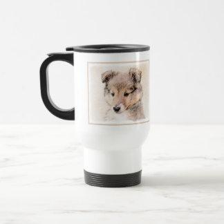 Shetland Sheepdog Puppy Travel Mug