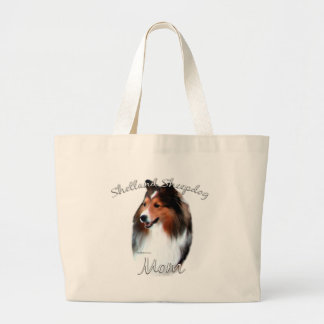 Shetland Sheepdog (sable) Mom 2 Large Tote Bag