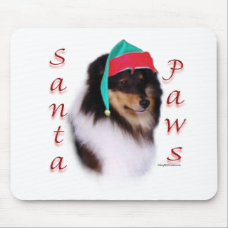 Shetland Sheepdog Santa Paws Mouse Pad