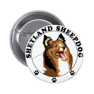 Shetland Sheepdog - Sheltie 2 Inch Round Button