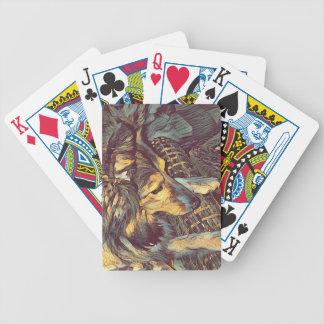 Shetland Sheepdog Sheltie Artistic Portrait Bicycle Playing Cards