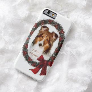 Shetland Sheepdog Sheltie Christmas Barely There iPhone 6 Case