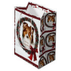 Shetland Sheepdog Sheltie Christmas Medium Gift Bag