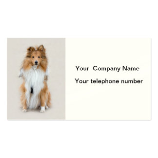 Shetland Sheepdog, sheltie dog custom personalized Business Card