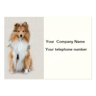 Shetland Sheepdog, sheltie dog custom personalized Large Business Card