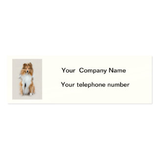 Shetland Sheepdog, sheltie dog custom personalized Mini Business Card