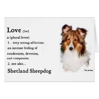 Shetland Sheepdog Sheltie Gifts Card