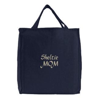 Shetland Sheepdog Sheltie MOM Gifts Canvas Bags