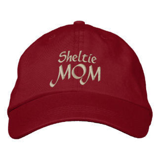 Shetland Sheepdog Sheltie MOM Gifts Embroidered Hat