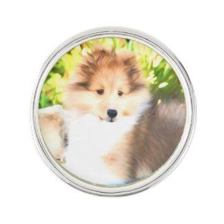 Shetland Sheepdog Sheltie Puppy Lapel Pin