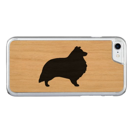 Shetland Sheepdog Silhouette Carved iPhone 7 Case