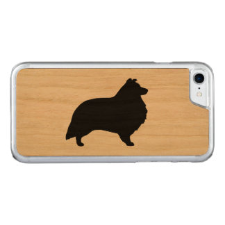 Shetland Sheepdog Silhouette Carved iPhone 8/7 Case