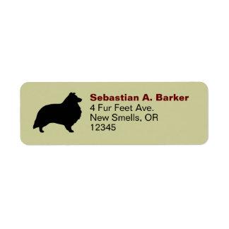 Shetland Sheepdog Silhouette Return Address Label