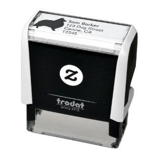 Shetland Sheepdog Silhouette Return Address Self-inking Stamp