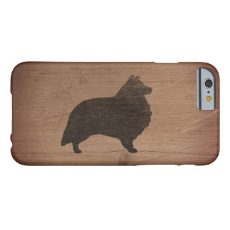 Shetland Sheepdog Silhouette Rustic Barely There iPhone 6 Case