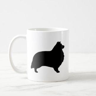 Shetland Sheepdog Silhouettes Coffee Mug