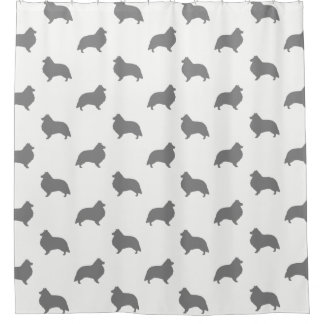 Shetland Sheepdog Silhouettes Pattern
