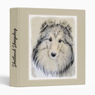 Shetland Sheepdog Vinyl Binder
