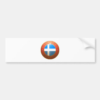 Shetland shield bumper sticker