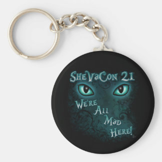 """SheVaCon 21 - """"We're All Mad Here"""" Keychain"""