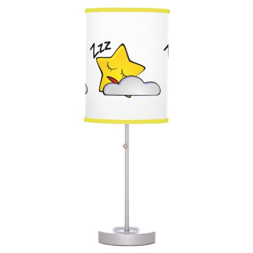 Shh Baby Sleeping Sleepy Stars and Clouds Table Lamps