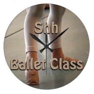 SHH BALLET CLASS, WALL CLOCK FOR BALLET CLASS TIME