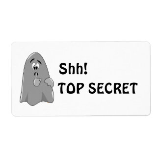 Shh Cartoon Ghost Top Secret Halloween