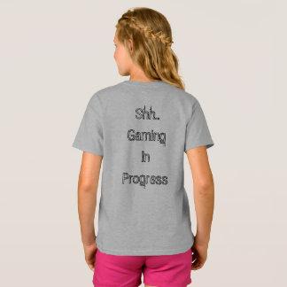Shh.. Gaming In Progress Girls Shirt