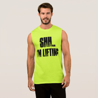 SHH.. I'M LIFTING GYM AND WEIGHTLIFTING SLEEVELESS SHIRT