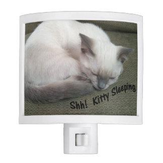 Shh! Kitty Sleeping Night Light