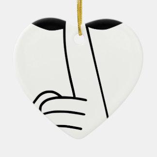 Shhh Ceramic Ornament
