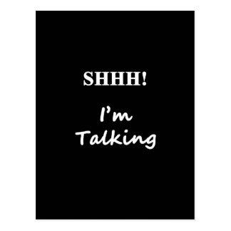 shhh i'm talking postcard
