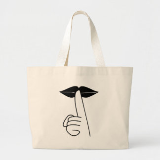 Shhh Large Tote Bag