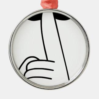 Shhh Metal Ornament