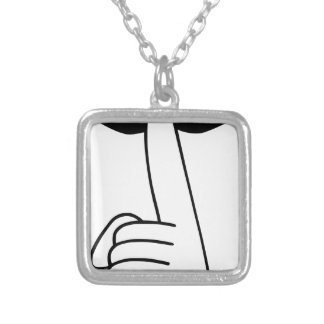 Shhh Silver Plated Necklace