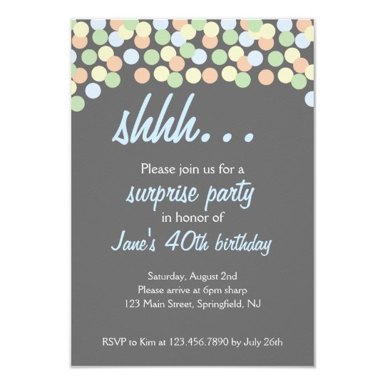 Shhh... Surprise Party! Card