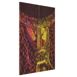 Shhh Woman Finger Lips Abstract Art Premium Canvas Stretched Canvas Print